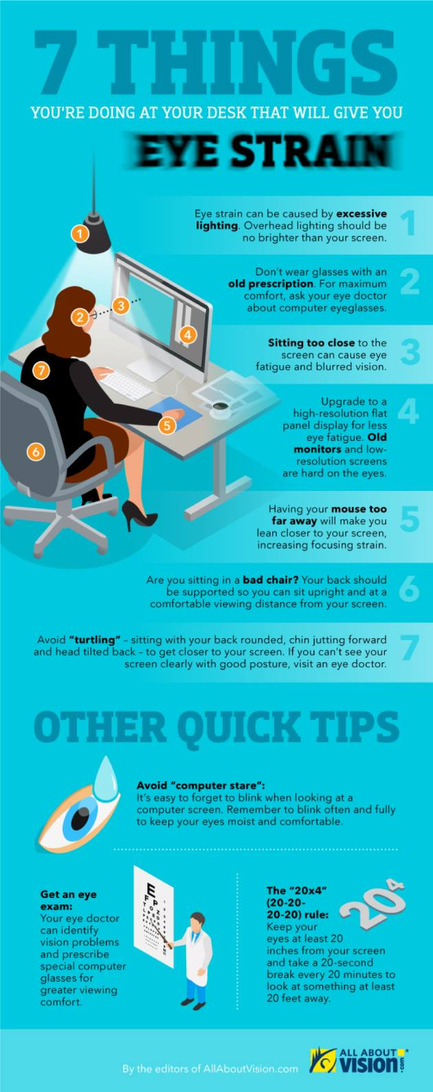 7 things that will give you eye strain
